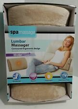 """NEW Spa Massage LUMBAR massager vibration therapy at home/office/travel """"BEIGE"""""""