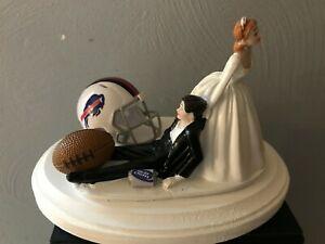Buffalo Bills Cake Topper Bride Groom Wedding day NFL Funny Football Theme