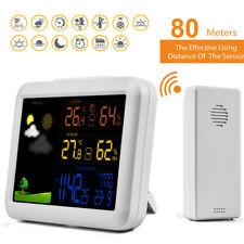 Funk Wetterstation Wettervorhersage Thermometer Hygrometer mit Außensensor LCD