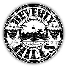 "Beverly Hills City California United States Car Bumper Sticker Decal 5"" x 5"""