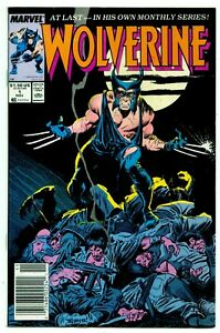 Wolverine #1 Marvel Comics 1988 1st Appearance as Patch Newsstand Variant