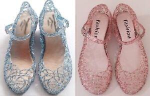Elsa Anna Frozen Disney Inspired Sandal Birthday Girls Princess Costume Shoes