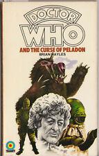 RARE white logo Doctor Who and the Curse of Peladon. Target Books. %2CharityDo