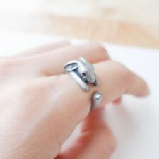Women Men Cute Retro Rabbit Ring Fashion Jewelry Christmas Party Gift Adjustable