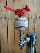 St Louis Cardinals Tap Handle Beer Keg Used Rawlings MLB Baseball Red Bird