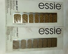 2-Essie SLEEK STICK UV CURED NAIL APPLIQUE IN DON'T CHEETAH ON ME & CROC'N CHIC