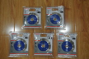 5 X Bosch Diamond Cutting Disc 4'/105mm - Brand New  - T#