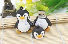 1pc 16GB Penguin Black White USB Flash Thumb Drive USA Shipper