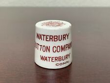 New listing Waterbury Button Co Porcelain Advertising Piece Connecticut 1812 - 1912