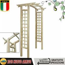 Legno di Pino FSC Arco da Giardino a Traliccio con Fioriere Pergolato