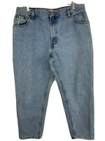 """Levis 550 Relaxed Tapered Denim Blue Jeans Size 16 S Inseam 28"""""""