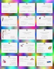 100 VISITENKARTEN, Design-Auswahl, CMYK=4/0, hochwertiger Edelkarton, grifffest