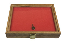 Oak Wood Display Case 9 X 12 X 2 For Arrowheads Knives Collectibles Coins
