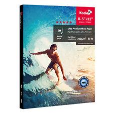 Koala 8.5x11 Ultra Premium Glossy Inkjet Printer Photo Paper HP Canon Epson 80lb
