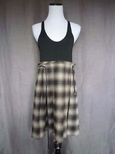 Dallin Chase Anthropologie Wool Plaid Pleated Skirt Tank Dress w/ Pockets- 4