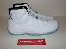 New Nike Air Jordan XI 11 Retro Legend Blue Columbia Baby White Shoes Size 10.5