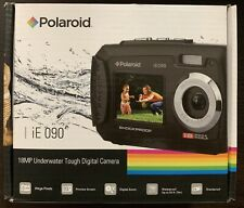 Polaroid iE090 Dual Screen Shock & Waterproof Digital Camera Blue & Black NEW