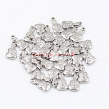 Lot 15pcs Stainless steel guitar Charms pendant Silver Jewelry accessories DIY