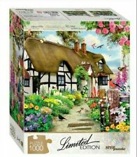 1000 Piece Jigsaw Puzzles,Limited Edition, English cottage,flowers, puzzle,gift