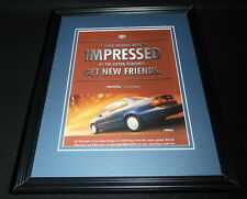 1999 Toyota Corolla Framed 11x14 ORIGINAL Vintage Advertisement