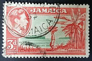 Jamaica - 1952 - Sc 152 - 2p Banana Type of 1938 Rose Red and Green VF Used