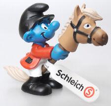 (PRL) PUFFI SCHLEICH 20743 CAVALIERE SPRINGREITER HORSE RIDER SMURF TOY CAVALLER