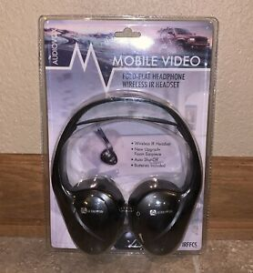 New Audiovox Headphones Wireless IR Headset Fold Flat DVD Player Infrared IRFFCS