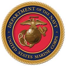 Enmarcado Us Military Insignia impresión: Estados Unidos Marine Corps (Cuerpo de Ejército Marina Usaf Imagen Arte)