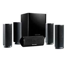 Harman Kardon HKTS 16 Black 5.1-channel home theater surround-sound system.