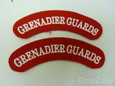 Pair of Grenadier Guards Cloth Shoulder Titles Badges Patches