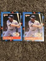 1987 Donruss  #153 Wade Boggs Boston Red Sox Lot Of 2