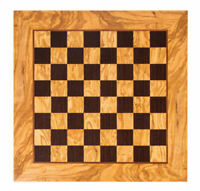 "Olive wood & Wenge handcrafted chess board in Greece - 1.57"" Squares"