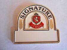 Vintage Stroh Signature Beer Pinback Name Badge Pin