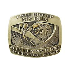 """I will give up my Gun . . ."""" Eagle Belt Buckle OBM164 IMC-Retail"""