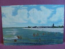 Old Linen Postcard: Fort Myers Beach, FL