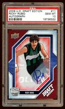 POP 1 PSA 10 RICKY RUBIO 2009 UD DRAFT PICK RC AUTO /499 THE ONLY PSA 10 GEMMINT