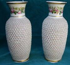 Schneeballen Pair German 19C Gorgeous Porcelain Vases MAGNIFICENT