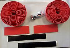 Red Road Bike Bicycle cork Handlebar Handle Bar Grip Tape Fixie Track