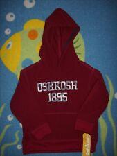 1895 OshKosh B'gosh Hoodie Pullover Youth Unisex Boys Girls Cranberry Fleece