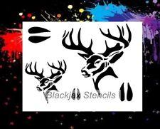 Big Buck Set  01  Airbrush Stencil,Template