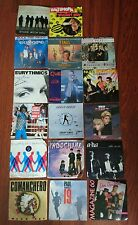 lot 17 disques 45T tres bon etat , a-ha,  james brown, duran duran, eurythmics,
