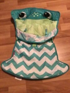 Fisher Price Sit Me Up Frog Floor Seat Fabric Part Replacement Cushion Green