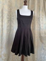 French Connection Cute Black Skater Dress UK 10-12 Fit and Flare Classic Line