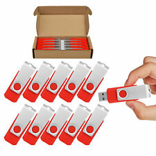 10pcs Metal Rotating 2GB USB Flash Drive Anti-skid Thumb Pen Drive Memory Sticks