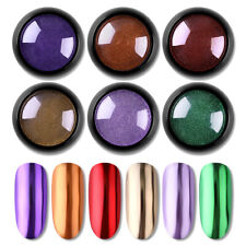 Nail Art Mirror Glitter Powder Metallic Dust Powder Metal Effect UV Gel Polish