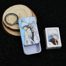 Anime GINTAMA Sakata Gintoki 54pcs Mini Playing Cards Deck Poker Keychain