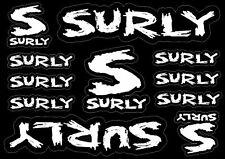 Surly Bike Bicycle Frame Decals Factory Stickers Graphic Adhesive Vinyl 11pcs