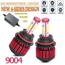 Pair 4side 9004 Led Headlight Bulbs High Low Beam Bulb 32000Lm Canbus Emc