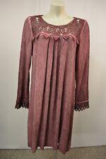 ERICA Kleid long Tunika Häkel Gr. M Plum Batik 3/4 Arm - NEU mit Etikett