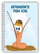 A5 PERSONALISED FISHING LOG BOOK/ FISHING DIARY/ FISHING GIFT PERSONALISED/01